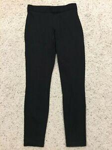 f726c836bc6bf2 J CREW Black PONTE STRETCH PIXIE PANTS size 4 #31090 Slim leggings ...