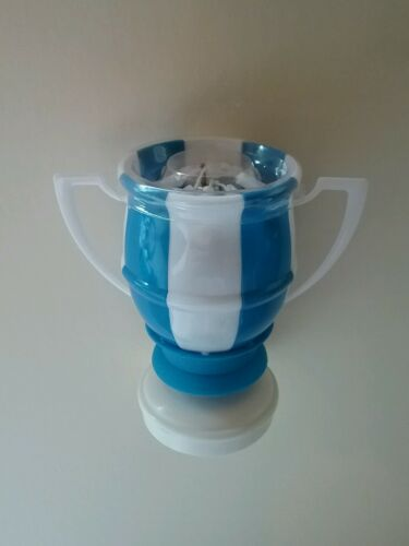 """Details about  /Magical Birthday Candles Soccer Ball /""""Trophy Style/"""" Blue /& White"""
