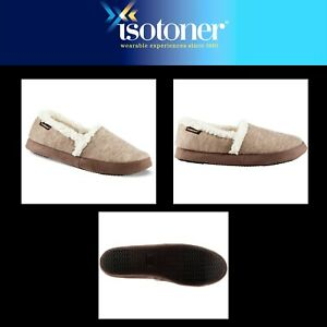 a2f77a5c3 Image is loading Isotoner-Women-039-s-Microsuede-Marisol-Slippers-Heathered-