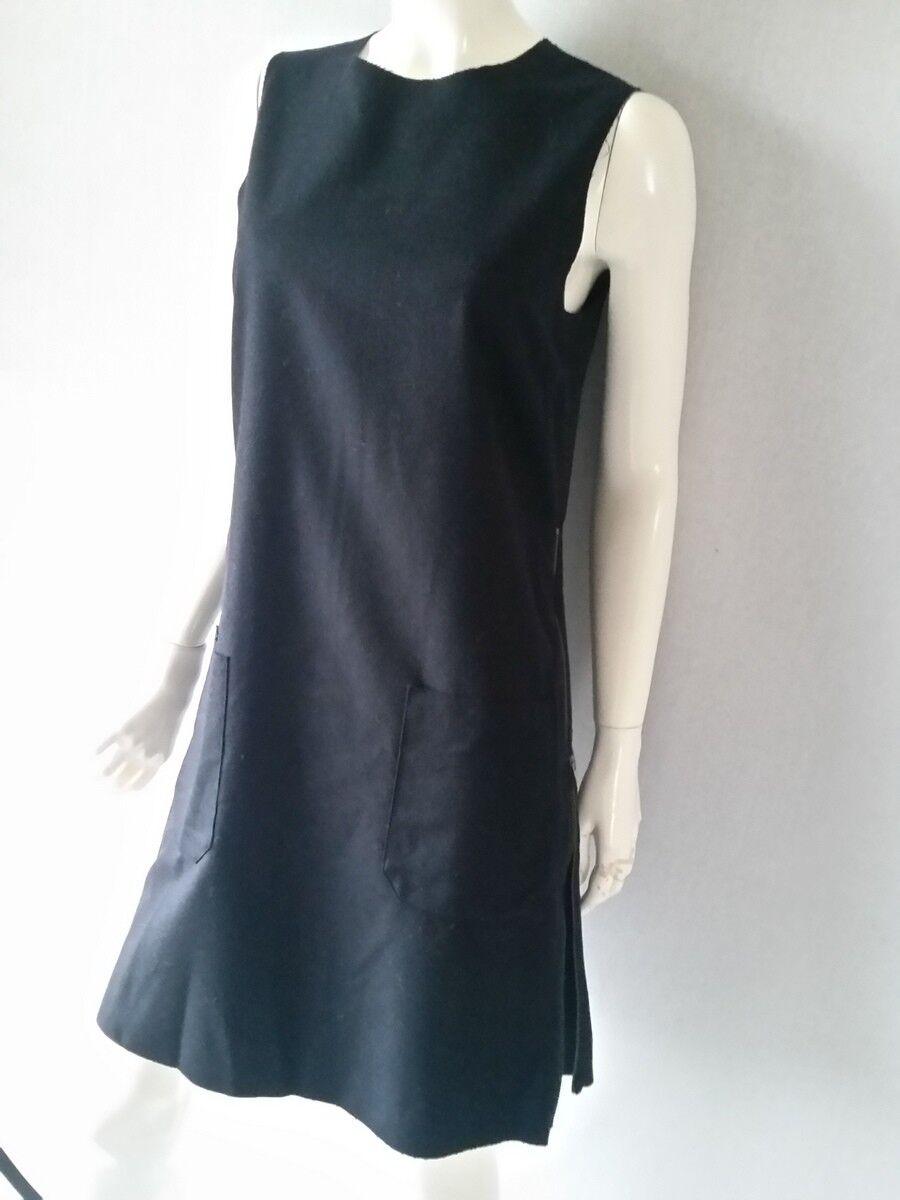 Marc O´Polo Kleid Schurwolle schwarz Gr. 38 seitliche ReißverschlüßeNEU
