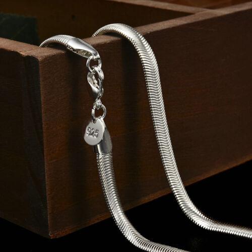 Fashion 925 Sterling Silver Snake Chain Women Men Necklace 16/'/'-30/'/' Lot Jewelry