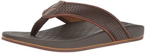 USA Pelem masculino Emiro Flat Sandal, Chocolate, 14 M US