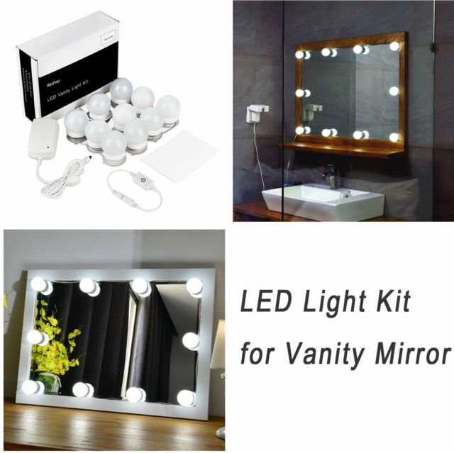 Hollywood Style 10pcs Led Vanity Mirror Lights Kit Makeup