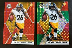 2-Card-Lot-2020-Mosaic-Anthony-McFarland-Jr-RC-Red-Prizm-and-Red-amp-Green-Prizm