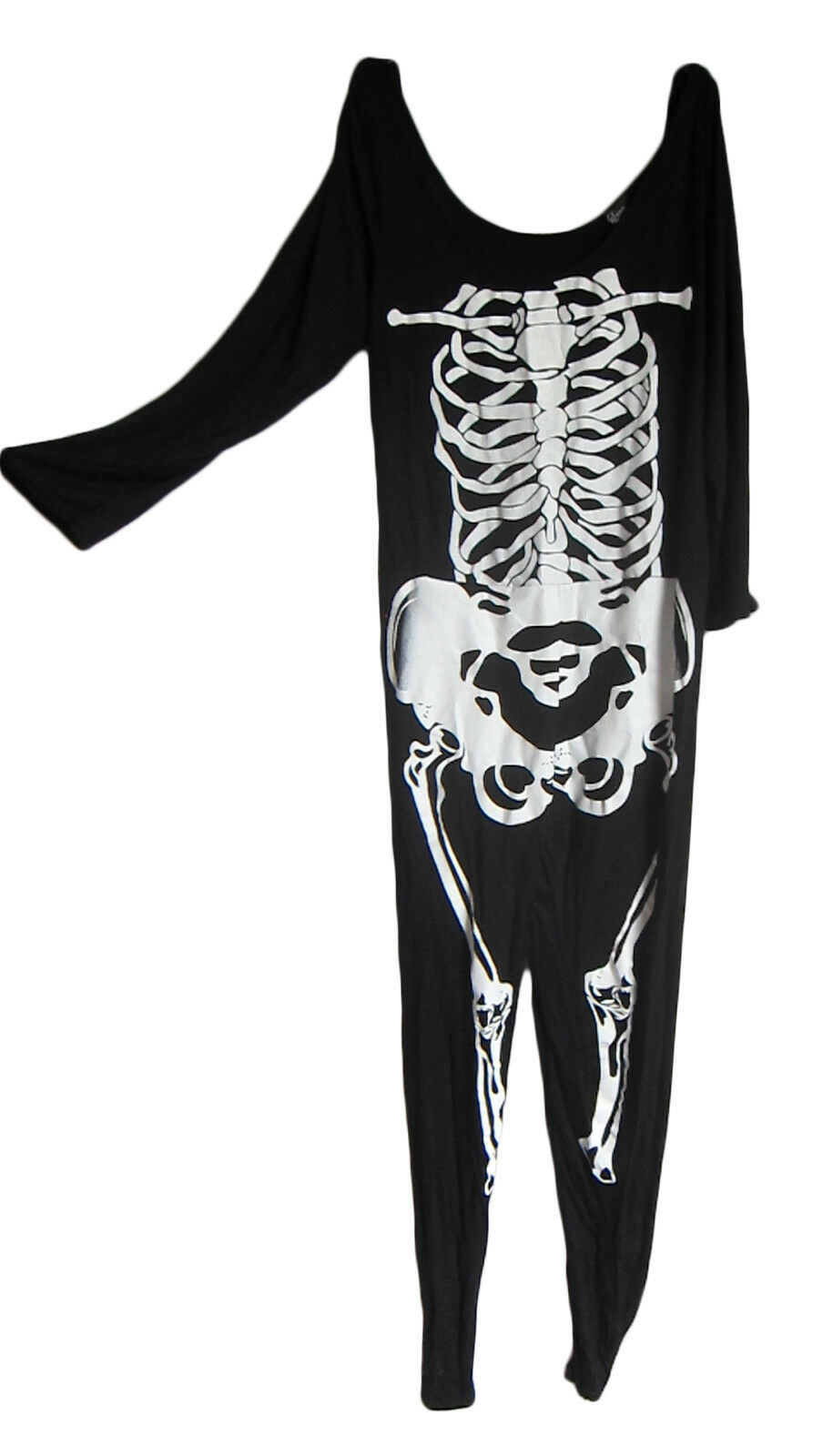 HALOWEEN UK 20/ 22 Skeleton Bones Suit Jumpsuit Fancy Dress Costume Outfit New
