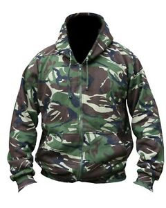 Mens Army Combat Military Venom Jacket Hooded Top Hoodie Coat Black Green New