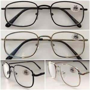 L454-Superb-Quality-Reading-Glasses-Spring-Hinge-Classic-Large-Metal-Frame-Style