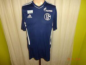 FC-Schalke-04-Original-Adidas-Spieler-Training-Trikot-2010-11-034-GAZPROM-034-Gr-M