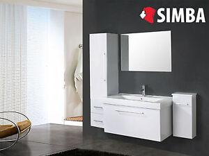 Details zu Muebles para baño - Cuarto de baño Espejo 2 unidad de culumn 100  cm White London
