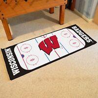 Wisconsin Badgers 30 X 72 Hockey Rink Runner Area Rug Floor Mat
