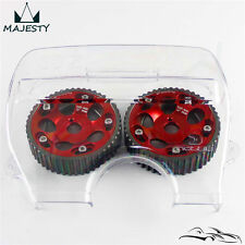 Cam Gear Pulley  + Cam Cover Kit For Toyota 1JZ 1JZGTE 1JZ-GTE 88-92 Red