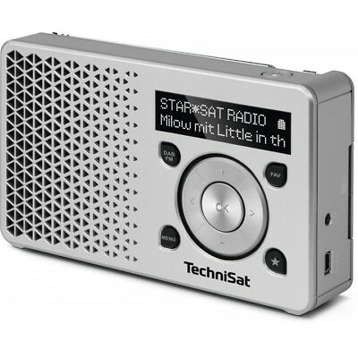 TechniSat DIGITRADIO 1 DAB+ UKW Digitalradio silber-silber