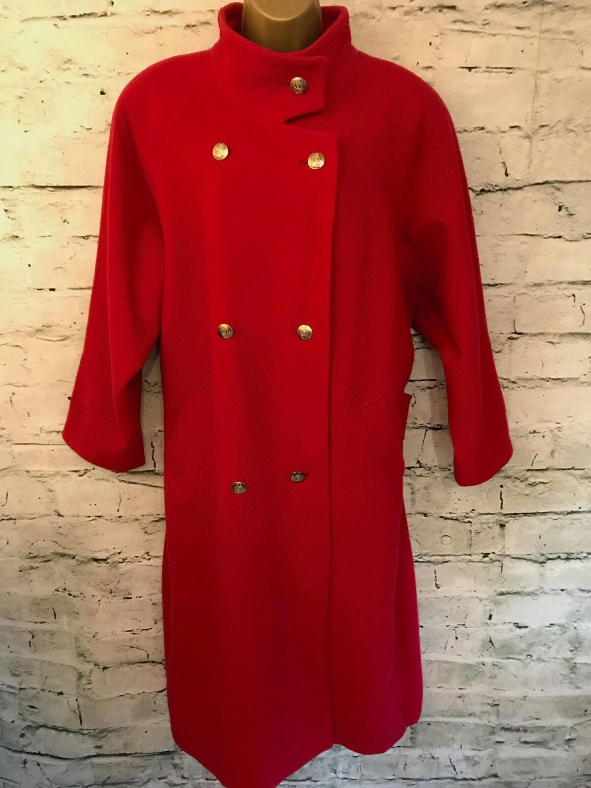 Planet Ladies Red Wool Winter Coat