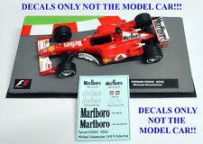 für 2 Modelle 1//43 Decal BBR Marlboro für Ferrari F1 2001 und für Fahrerhelm