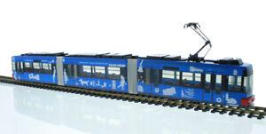 Rietze-STRA01065-Strassenbahn-Adtranz-GT6-VAG-Nuernberg-Staedtepartner-neu-OVP-Tram