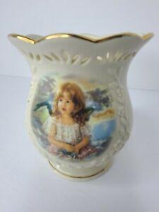 Lenox Angelic Light Votive Candle Holder Fine Ivory China (2002) Handcrafted