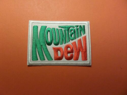 """MOUNTAIN DEW/"""" EMBROIDERED IRON ON PATCHES 2-3//4 X 3-3//4"""