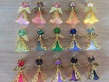 KIT 16 ORO ANGELI Smerigliato Fiore Perline Filigrana CONO Perlina Tappo ali perline charms