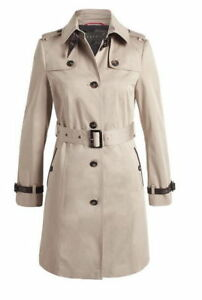 various colors 44863 1ba82 Details zu ESPRIT Collection Trench Coat Jacke Mantel Trenchcoat Beige mit  Leder 34 XS S 36