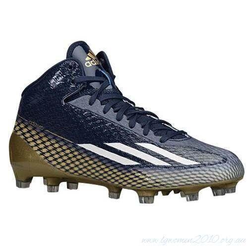 ADIDAS Adizero 5 Star 3.0 Mid Navy bluee gold Molded Football Cleats NEW Mens 15
