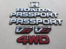 93-97 Honda Passport Emblem 8971034791 Logo 8970937191 Ornament Decal Set of 7