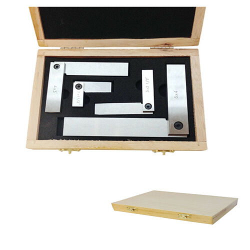 """4 PC Steel Hardened Square Set 2/"""",3/"""" 4/"""" /& 6/"""" Right Angle 90 Degree with Box"""