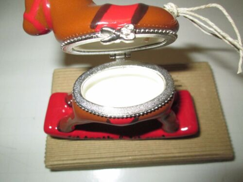 Mud Pie Keepsake Tooth /& Curl Ceramic Rocking Horse NIB