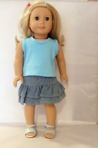 Lavender Embroidered Jeans 3pc Set Fits 18 inch American Girl Dolls