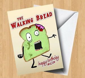Personalised the walking bread deadzombiehorrorjoke birthday image is loading personalised the walking bread dead zombie horror joke bookmarktalkfo Images