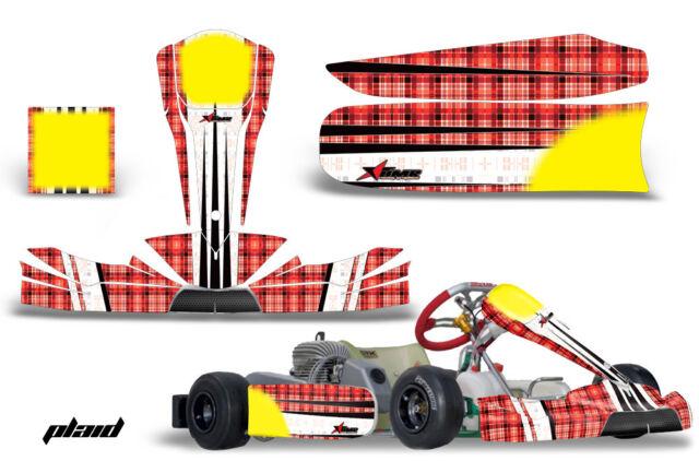 Go Kart Graphics Kit Decal Sticker Wrap For KG Freeline Birel Cadet WARHAWK GRN