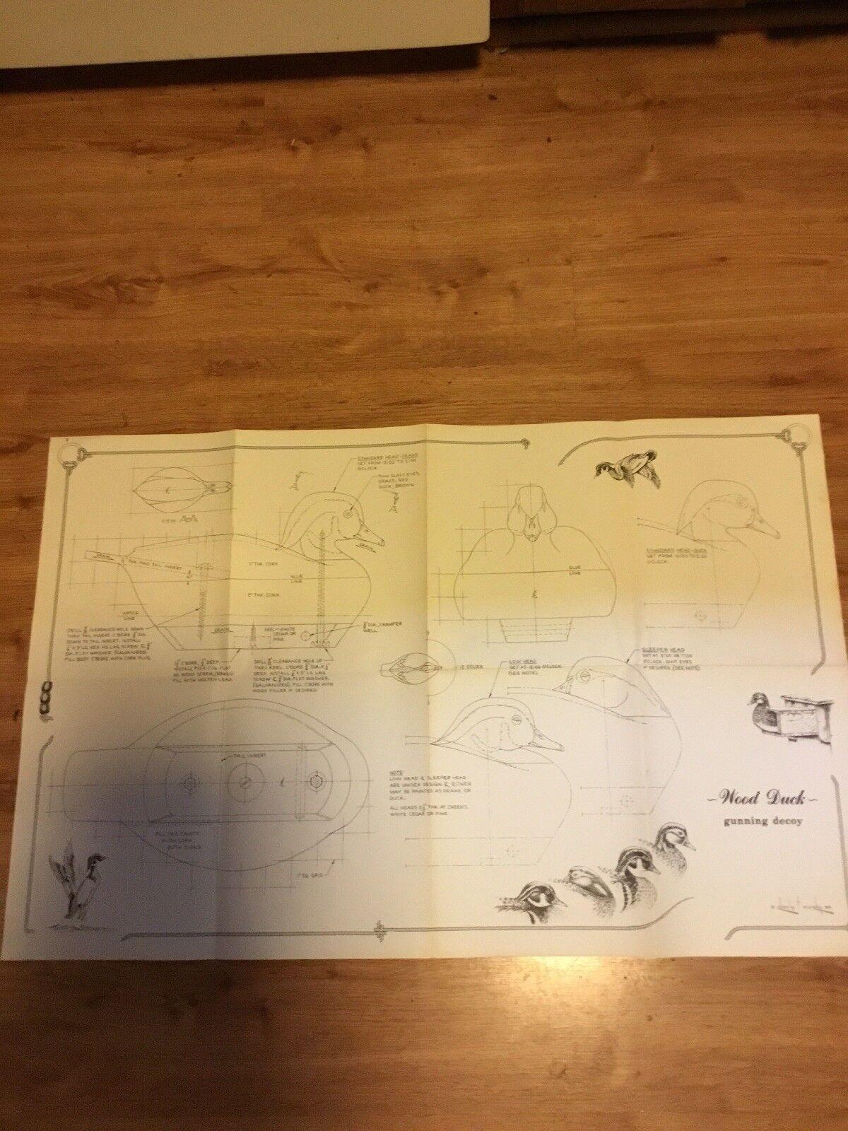 4 grandes planes de trabajo para Señuelos. Charles F Murphy. fechado 1978
