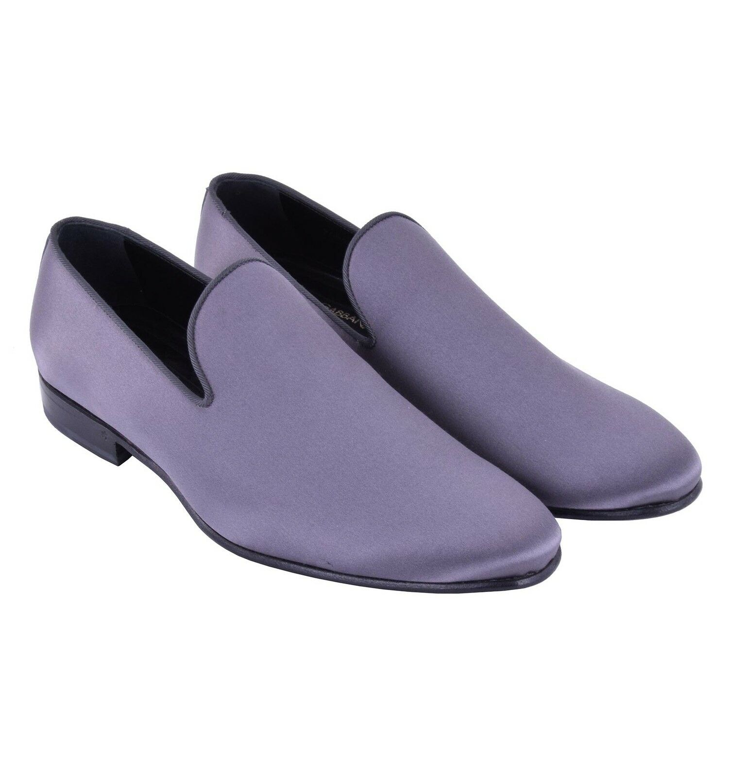 530c961993d4 DOLCE   GABBANA Satin Loafer Slip-On Slip-On Slip-On Shoes VENEZIA Gray  Silk Moccasins 05163 eb3905