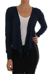 NEW-800-DOLCE-amp-GABBANA-Sweater-Cardigan-Blue-Cashmere-Silk-Top-IT40-US6-S