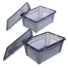 10x Aquatic Reptile Breeding Box Transport Case Terrarium Feeding Tank H1