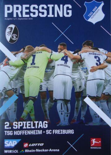 SC Freiburg Programm Bundesliga 2018//19 TSG 1899 Hoffenheim