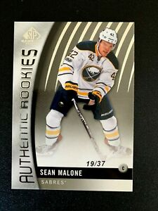 2017-18 SP Game Used #138 Sean Malone/37 TRUE RC
