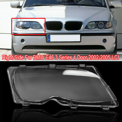 Headlight Transparent lens cover for 318i 320i 320d 323i 325i 325d 328i for B M W 3 Series E46 4Doors 98-01 Headlight Clear glass cover Facelift Headlamp Clear Shell Replacement old Left