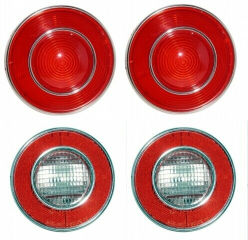 Made in the USA 1974 Corvette C3 Tail Lights /& Backup Lights Set of 4
