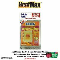Heatmax_hothands, 3-pack Body & Hand Super Warmers_up To 18 Hours Of Heat Hh13