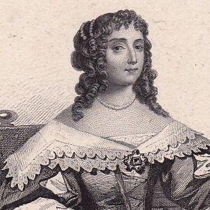 Portrait-XIXe-Madeleine-de-Scudery-Le-Havre-Femme-de-Lettres-Seine-Maritime