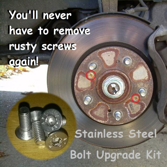 4X Brake Disc Retaining Bolt Stainless Steel Set ., Screw
