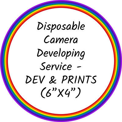 "Disposable Camera Developing/Processing - DEVELOP & PRINT Service (6""x4""  Photos) 