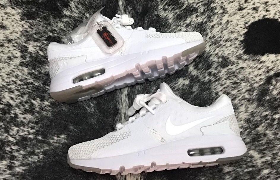 19ab37633d2e Nike Nike Nike Air Max Zero QS White Pure Platinum 789695-102 Men s Size 8