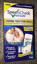 NEW SpermCheck Fertility Home Test For Men Kit Sperm Check Male NIB Exp FEB 2019