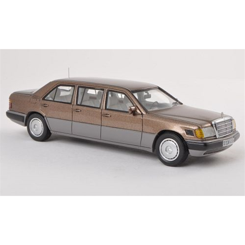 MERCEDES 250 D LONG V 124 LIMOUSINE 1990 METALLIC BROWN 1:43 Neo Scale Models