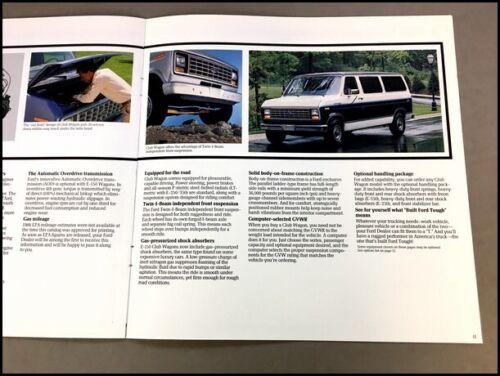 1986 Ford Club Wagon Van Original Sales Brochure Catalog