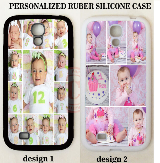 CUTE BABY 1ST BIRTHDAY PHOTO COLLAGE PHONE CASE FOR SAMSUNG GALAXY S6 S5 S4 NOTE