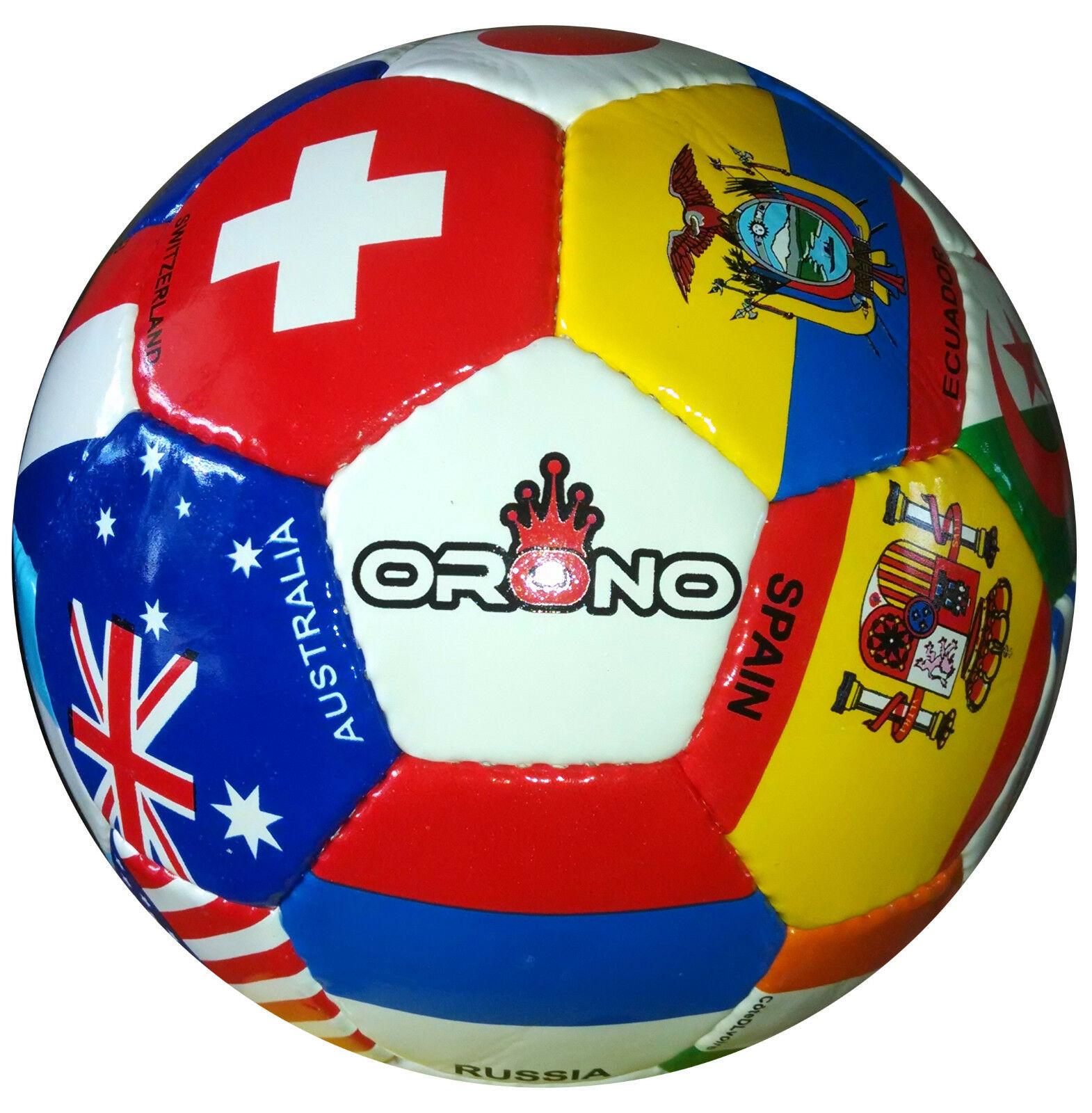 Set of COUNTRY 5 NEW WORLD CUP 2014 COUNTRY of FLAG SOCCER BALLS 32 Panel Größe 4 222712