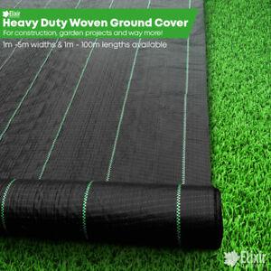 Elixir Gardens Heavy Duty Ground Control Fabric 1m, 2m, 3m, 4m, 5m Widths + Pegs