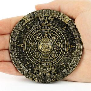 Maya-Xiuhpohualli-Aztec-Calendar-Statue-Belt-Buckle-Man-Leather-Southwestern